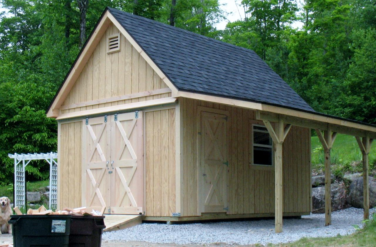 Garages Built On Site : Vermont sheds and barns custom built on site