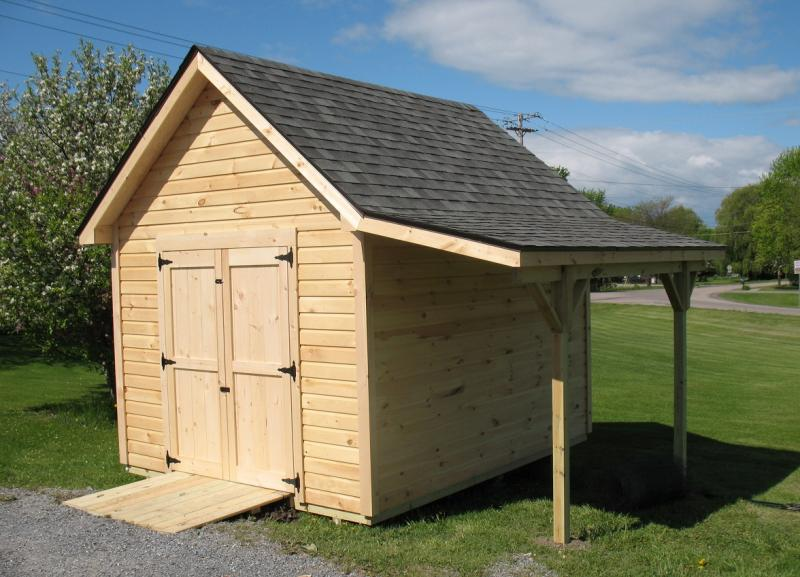 29 lastest storage sheds with overhang for Atv shed plans