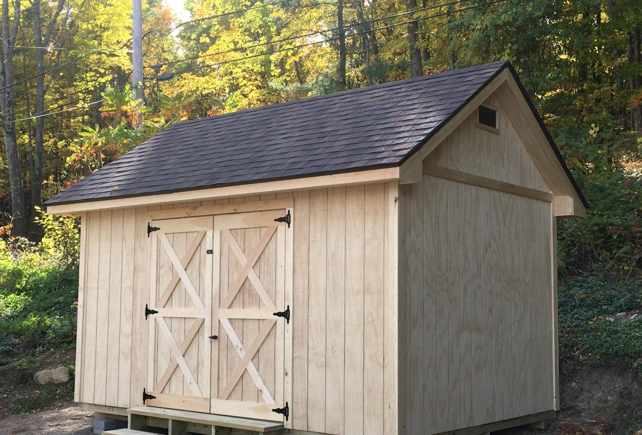 Vermont Custom Sheds Select Saltbox Pricing